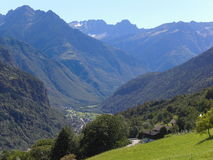 Biasca landscape. Landscape near St. Nicolao's church Royalty Free Stock Photography