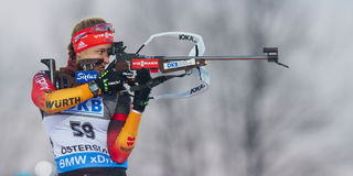 Biathlon Ã-stersund Imágenes de archivo libres de regalías