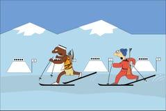 Biathlon Immagine Stock