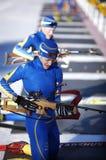 Biathlon stock afbeelding