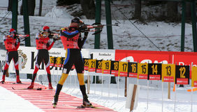 Biathlon Photo libre de droits