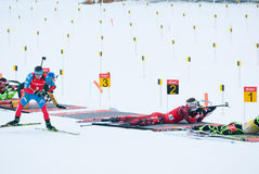 Biathlon Royalty-vrije Stock Fotografie
