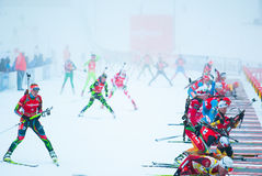Biathlon Fotografia de Stock Royalty Free