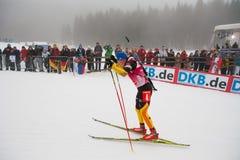 Biathlon. 12/16/2012 Pokljuka, Slovenia. Andreas Birnbacher of Germany is on his way to win the 15 kilometre mass start race of the Biathlon World Cup in Royalty Free Stock Photography