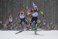 biathlon royalty-vrije stock fotografie
