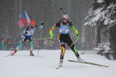 biathlon Foto de archivo libre de regalías