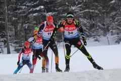 biathlon zdjęcie stock