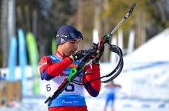 Biathlon, Anatoly Oskin Stockfoto