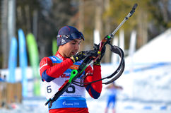 Biathlon, Anatoly Oskin Stock Foto