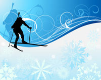 Biathlon athlete Royalty Free Stock Image