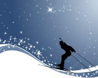 Biathlon athlete Royalty Free Stock Image