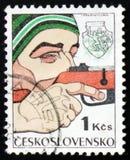 Biathlon, circa 1977 Lizenzfreies Stockfoto