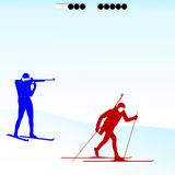 Biathlon competition 1 Royalty Free Stock Images