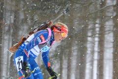 Biathlon - coordonnée de Gabriela Soukalova Photographie stock