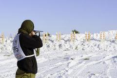 Biathlon de chasse Photo stock