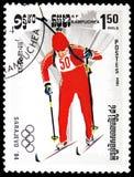 Biathlon, de Winterolympische spelen 1984, Sarajevo serie, circa 1984 royalty-vrije stock foto