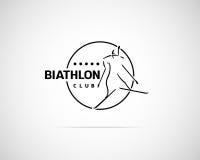 Biathlon Emblem Stock Image