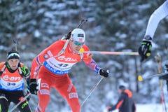 Biathlon - Emil Hegle Svendsen Royalty Free Stock Images