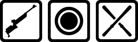 Biathlon Icons Stock Images
