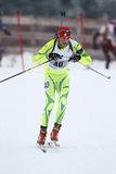 Biathlon. Male athlete performs during the European Youth Olympic Winter Festival, Cheile Gradistei, Brasov, Romania royalty free stock photography
