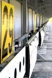 biathlon O alvo ostenta o tiro Fotografia de Stock