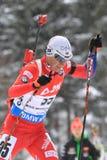 Biathlon - Ole Einar Bjoerndalen Arkivbild
