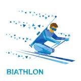 Biathlon per gli atleti con un'inabilità Sciatore disabile Fotografia Stock Libera da Diritti