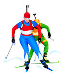 Biathlon race Royalty Free Stock Images