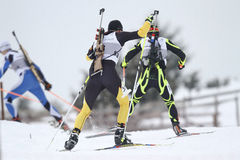 Biathlon race Stock Image