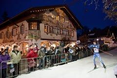 Biathlon Skier in Garmish-Partenkirchen Stock Photos