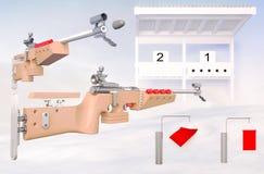 biathlon Sport dell'obiettivo per rapinare fucilazione Fotografia Stock Libera da Diritti