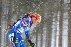 Biathlon - szczegół Gabriela Soukalova Fotografia Stock