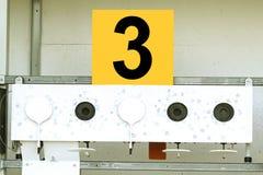 Biathlon . Target sports shooting Royalty Free Stock Image