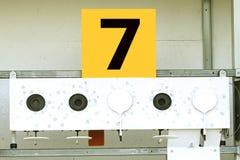 Biathlon . Target sports shooting № 7.  Stock Photos