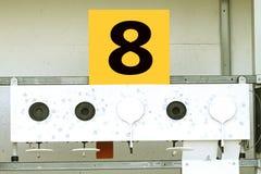 Biathlon . Target sports shooting № 8.  Royalty Free Stock Image