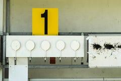 Biathlon. Target sports to rifle shooting Royalty Free Stock Images