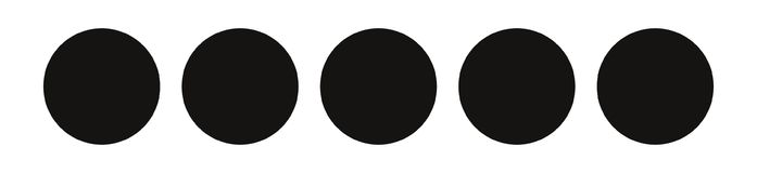 Biathlon target, vector. Biathlon target, five black circles on a white background Stock Images