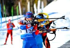 Biathlon. Tazza regionale di IBU in Soci Fotografie Stock