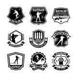 Biathlon Vector Icons 4. Here is an awesome set of biathlon badges that you are sure to find very useful. Hope you really enjoy using them Royalty Free Stock Photo