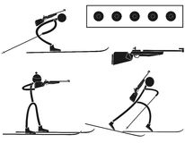 Biathlon. Vector illustration (EPS 10 Royalty Free Stock Photography
