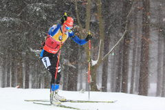 Biathlon world cup leader - Kaisa Makarainen Stock Images