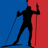 Biathlonmens Royalty-vrije Stock Afbeelding