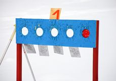 Biathlonziel Stockfoto