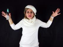 BIAUTIFUL妇女女孩模型 免版税库存图片