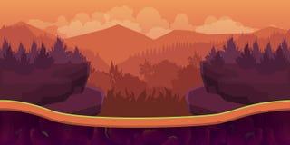 Biautiful landskap, modig bakgrund för vektor med avskilda lager vektor illustrationer