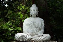 Biały Buddha Zdjęcia Stock