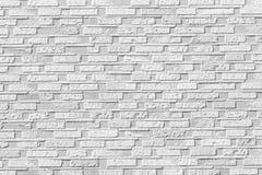 Biały ceglany kamiennej ściany bezszwowy tło Zdjęcie Royalty Free