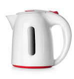 Biały czajnik Fotografia Stock