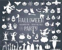 biały Halloween czarny sylwetki Obraz Stock