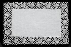 Biały handmade koronkowy doily Obrazy Royalty Free